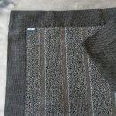 Vilnius Striped Linen Terry Bath Mats In Black White Stripe