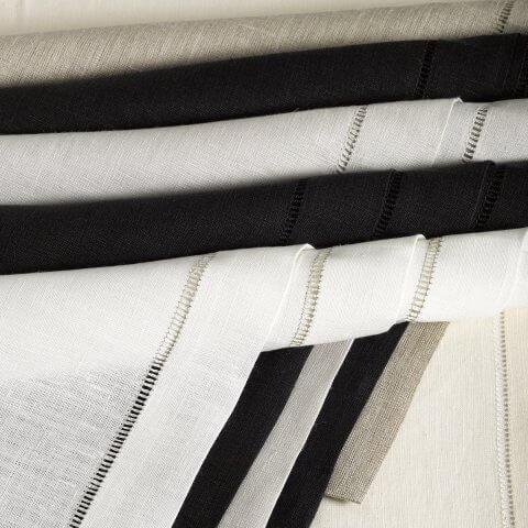 Anichini Treasure Hand Loomed Hand Hemstitched Linen Table Linens