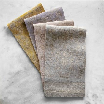 Anichini Melania Linen Towels With A Hemstitch