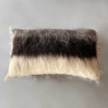 Anichini Big Stripe Handmade Brushed Wool Pillows