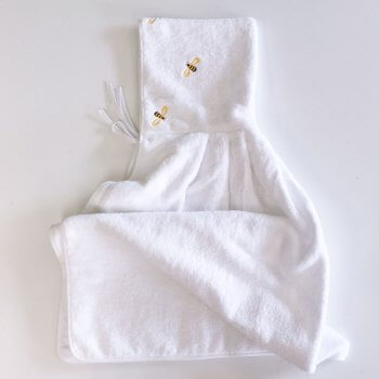 Anichini Bumblebee Embroidered Hooded Baby Towels
