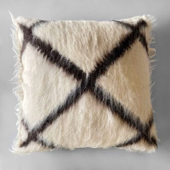 Anichini Cross Handmade Brushed Wool Pillows