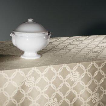 Anichini Deco Rustic Embroidered Linen Table Linens