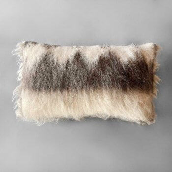 Anichini Diamond Handmade Brushed Wool Pillows