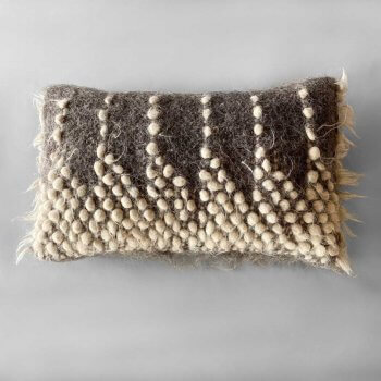 Anichini Drops Handmade Brushed Wool Pillows