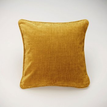 Anichini Horus Linen Velvet Pillows In Old Gold