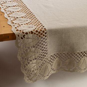 Anichini Lace Border Linen Table Linens