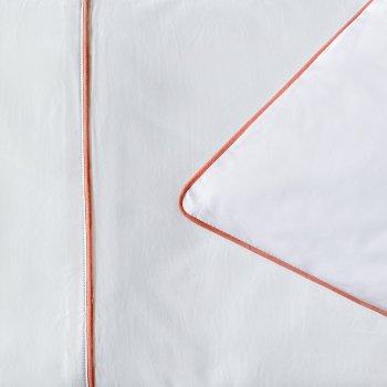 Anichini Palladio Percale Sheeting in White/Rust