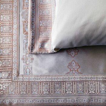 Anichini Persia Jacquard Sheets In Mushroom Lavender