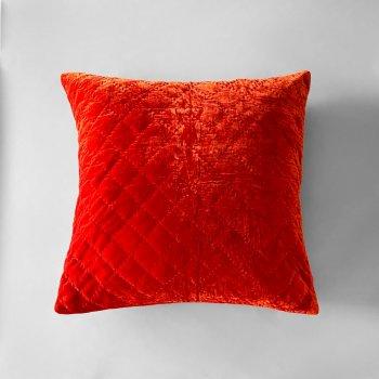 Anichini Pho Handmade Blood Orange Silk Velvet Pillows