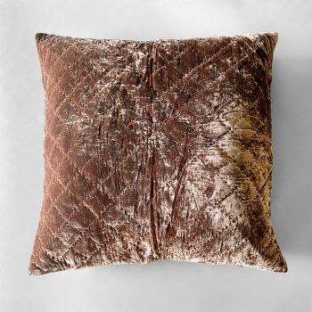 Anichini Pho Handmade Bronze Silk Velvet Pillows