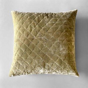 Anichini Pho Handmade Lichen Green Silk Velvet Pillows