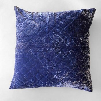 Anichini Pho Handmade Midnight Blue Silk Velvet Pillows