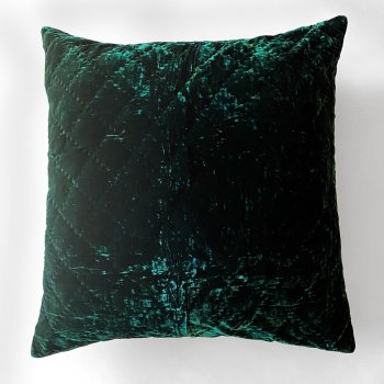 Anichini Pho Handmade Midnight Green Silk Velvet Pillows