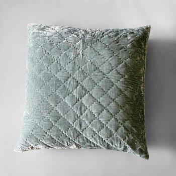 Anichini Pho Handmade Slate Grey Silk Velvet Pillows