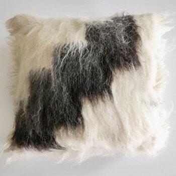 Anichini Stairway Handmade Brushed Wool Pillows