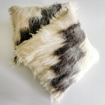Anichini Stairway Handmade Brushed Wool Pillows