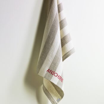 Anichini Darren Striped Heavy Linen Kitchen Towels