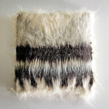 Anichini Triangle Brushed Natural Wool Pillows