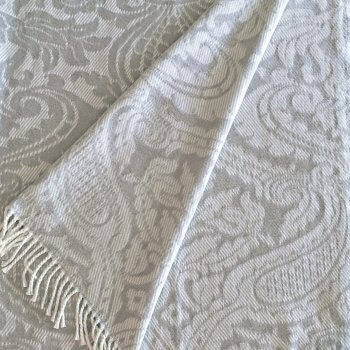 Anichini Verona Washable Cotton Blend Throws In Grey