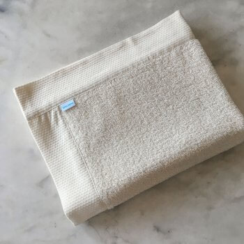 Vilnius Linen Terry Bath Mats In Ivory