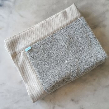 Vilnius Linen Terry Bath Mats In White/Black
