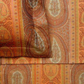 Anichini Taj Paisley Jacquard Sheeting in Rust/Sage