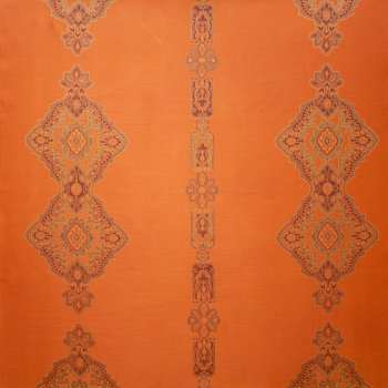 Anichini Persia Luxury Medallion Pattern Quilts In Orange