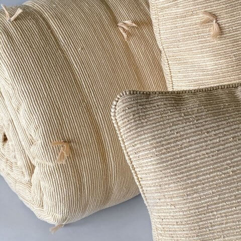Ottoman Hand Loomed Ribbed Weave Silk Quilts & Pillows