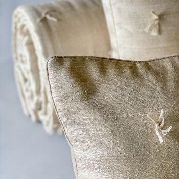 Anichini Changeant Hand Loomed Herringbone Silk Quilts & Pillows