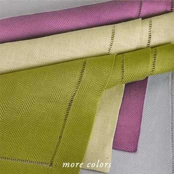 NOBEL HERRINGBONE LINEN TABLE LINENS