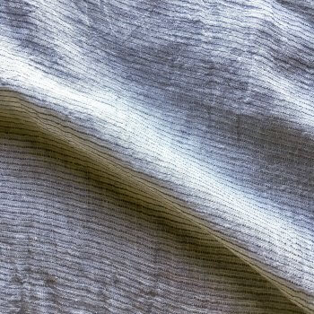 Abril Sheer Pinstripe Linen Fabric In Light Grey