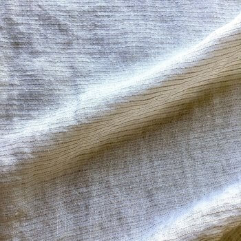 Abril Sheer Pinstripe Linen Fabric In Natural