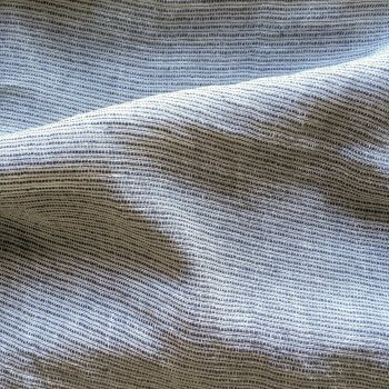 Abril Sheer Pinstripe Linen Fabric In Grey