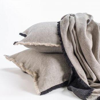 Anichini Barbora Herringbone Chenille Oversized Bed Throws & Pillow Covers