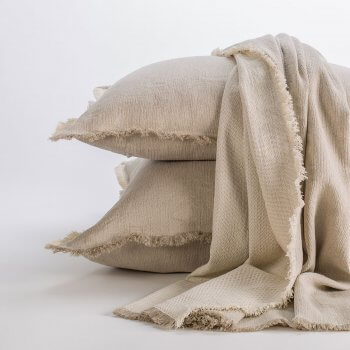 Anichini Barbora Herringbone Chenille Oversized Bed Throws & Pillow Covers
