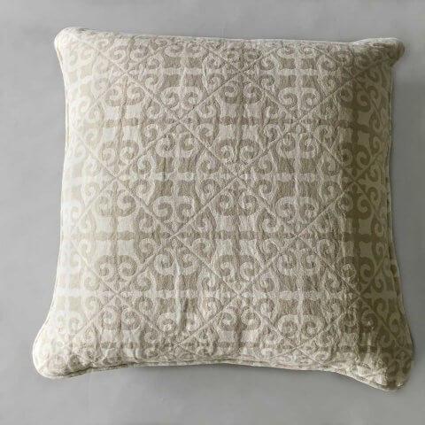 Anichini Tokkat Tile Design Linen Pillows