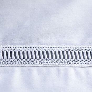 Anichini Avila Luxury Italian Percale Egyptian Cotton Sheets with Swiss Lace