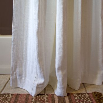 Anichini Donatas Flatweave Linen Shower Curtains