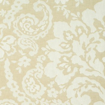 Anichini Lido Linen Jacquard Fabric By The Yard In Khaki White