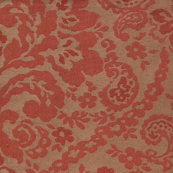 Anichini Lido Linen Jacquard Fabric By The Yard In Terracotta Mocha