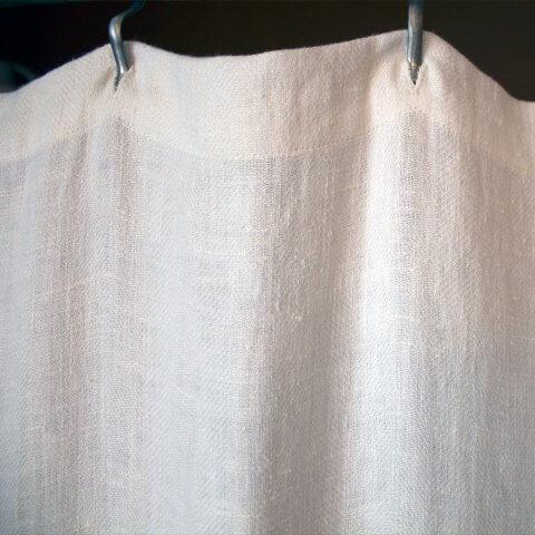 Anichini Donatas Flatweave Linen Shower Curtains