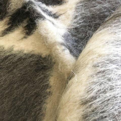 Anichini Zig Zag Brushed Natural Wool Rugs
