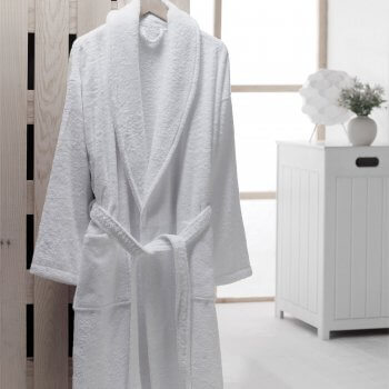 Anichini Shawl Collar Luxury Turkish Terry Robe