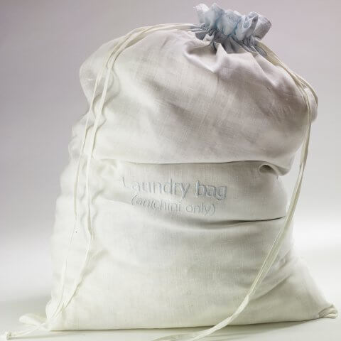 Anichini Embroidered Linen Laundry Bag