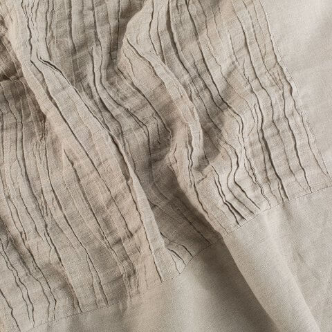 Anichini Linen Plissé Coverlets & Shams In Platinum