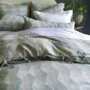 Anichini Puzzle Harlequin Diamond Line Duvet Covers & Shams In Grey