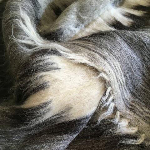 Anichini Grey Diamonds Brushed Natural Wool Rugs