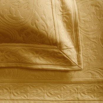 Anichini Nevada Matelassé Coverlets In Camel
