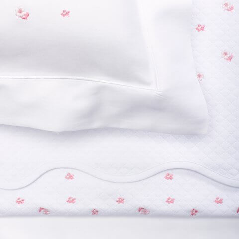 Anichini Gioia Embroidered Baby Bedding in Pink